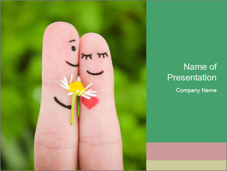 Finger couple PowerPoint Template