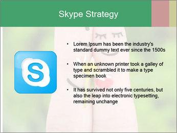 Finger couple PowerPoint Template - Slide 8