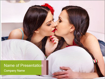 Sexy lesbian PowerPoint Templates - Slide 1