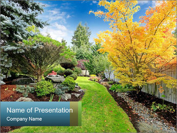 Colorful trees PowerPoint Template