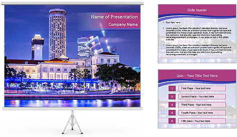 Five-star hotel PowerPoint Template