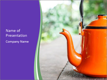 Tea pot PowerPoint Template