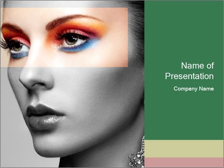 Beautiful young woman PowerPoint Template