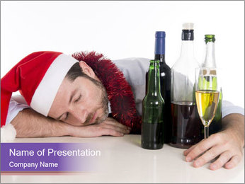 Drunk business man PowerPoint Templates - Slide 1