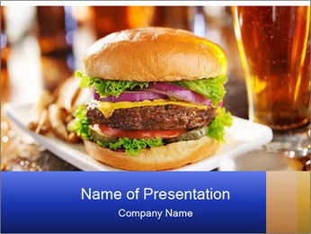 Hamburger PowerPoint Templates - Slide 1