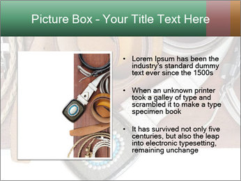 Isolate leather belts on wooden plank PowerPoint Template - Slide 13