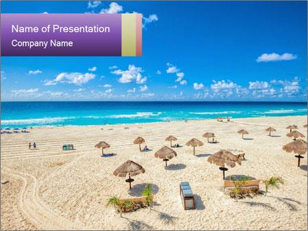 Beach panorama PowerPoint Templates