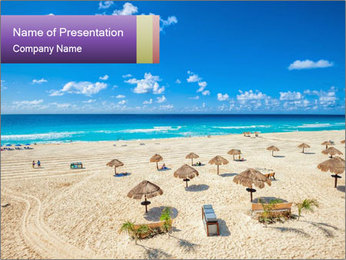 Beach panorama PowerPoint Template