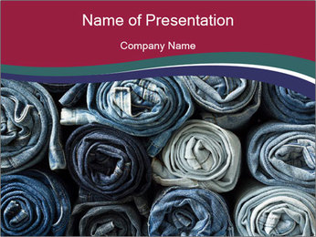 Jeans folded into rolls PowerPoint Template