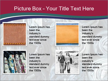 Jeans folded into rolls PowerPoint Template - Slide 14