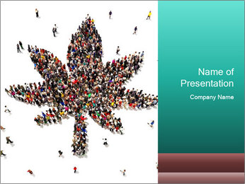 Medical marijuana PowerPoint Template - Slide 1