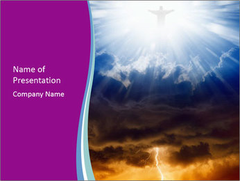 Jesus Christ PowerPoint Template - Slide 1