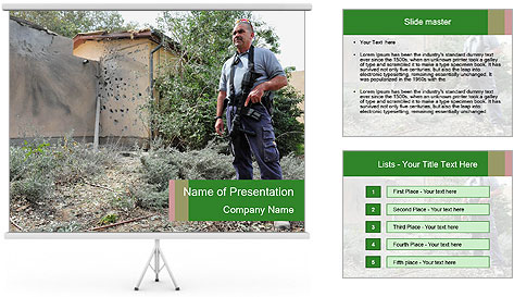 Disruption of daily life. PowerPoint Template