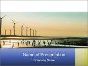 Sillouette of Wind PowerPoint Templates