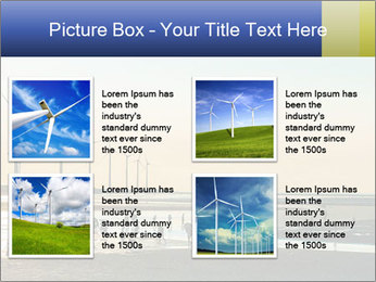 Sillouette of Wind PowerPoint Template - Slide 14
