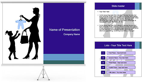 Vector pregnant woman PowerPoint Template