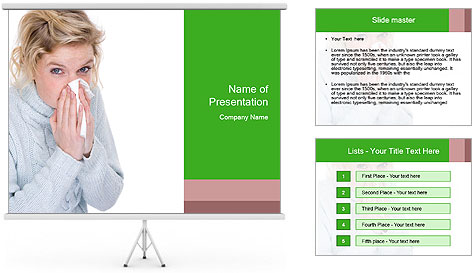Beautiful caucasian woman PowerPoint Template