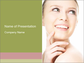 Woman face PowerPoint Template