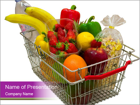 A shopping basket full PowerPoint Templates