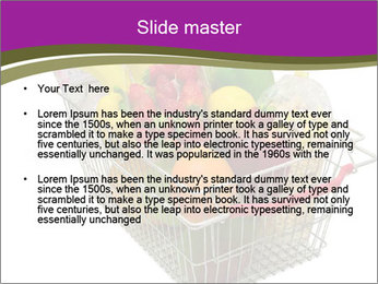 A shopping basket full PowerPoint Templates - Slide 2