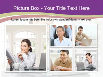 Woman looks at her laptop PowerPoint Template - Slide 19