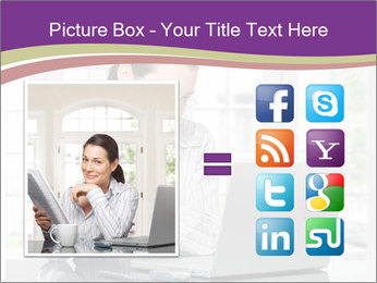 Woman looks at her laptop PowerPoint Templates - Slide 21