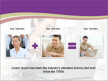 Woman looks at her laptop PowerPoint Template - Slide 22