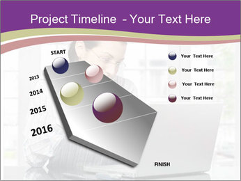 Woman looks at her laptop PowerPoint Templates - Slide 26