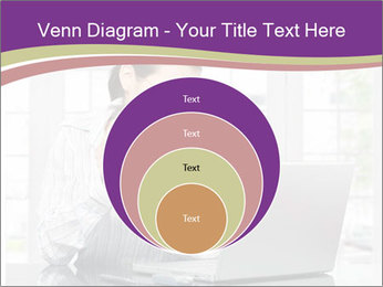 Woman looks at her laptop PowerPoint Templates - Slide 34