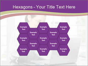Woman looks at her laptop PowerPoint Templates - Slide 44