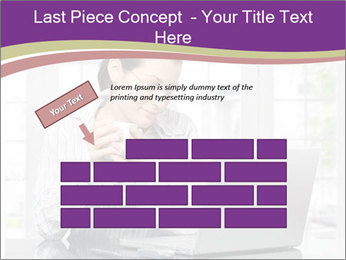 Woman looks at her laptop PowerPoint Templates - Slide 46