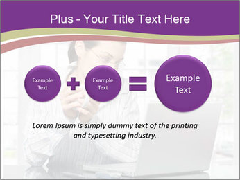 Woman looks at her laptop PowerPoint Templates - Slide 75