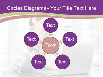 Woman looks at her laptop PowerPoint Templates - Slide 78