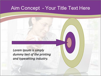Woman looks at her laptop PowerPoint Template - Slide 83