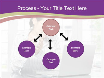 Woman looks at her laptop PowerPoint Templates - Slide 91