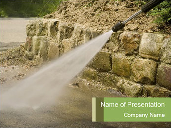 High pressure cleaner PowerPoint Template - Slide 1