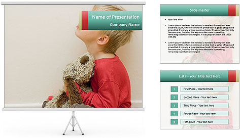Angry child PowerPoint Template