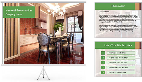 The luxury room PowerPoint Template