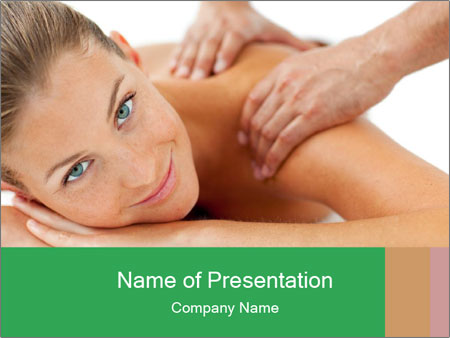 Smiling woman PowerPoint Template