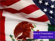 Mexican and American flags PowerPoint Templates