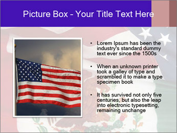 Mexican and American flags PowerPoint Template - Slide 13