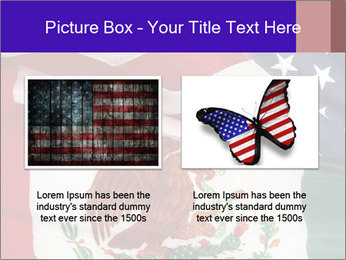 Mexican and American flags PowerPoint Template - Slide 18