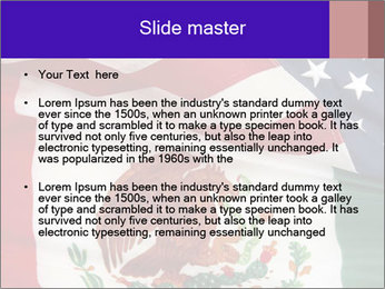 Mexican and American flags PowerPoint Template - Slide 2