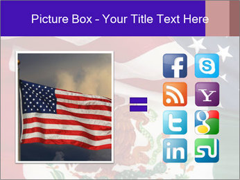 Mexican and American flags PowerPoint Template - Slide 21