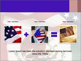 Mexican and American flags PowerPoint Template - Slide 22