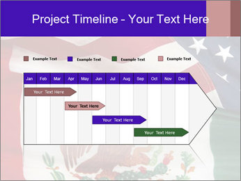 Mexican and American flags PowerPoint Templates - Slide 25