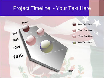 Mexican and American flags PowerPoint Template - Slide 26