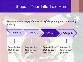 Mexican and American flags PowerPoint Template - Slide 4