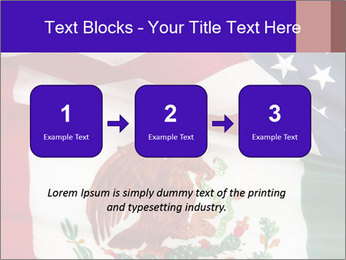 Mexican and American flags PowerPoint Template - Slide 71