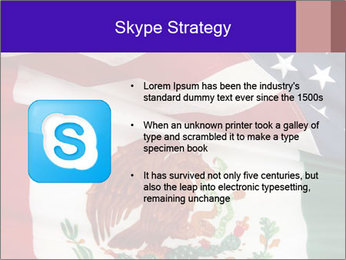 Mexican and American flags PowerPoint Template - Slide 8